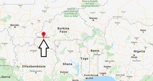 Wo liegt Bobo-Dioulasso? Wo ist Bobo-Dioulasso? in welchem land liegt Bobo-Dioulasso