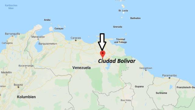 Wo liegt Ciudad Bolivar? Wo ist Ciudad Bolivar? in welchem land liegt Ciudad Bolivar