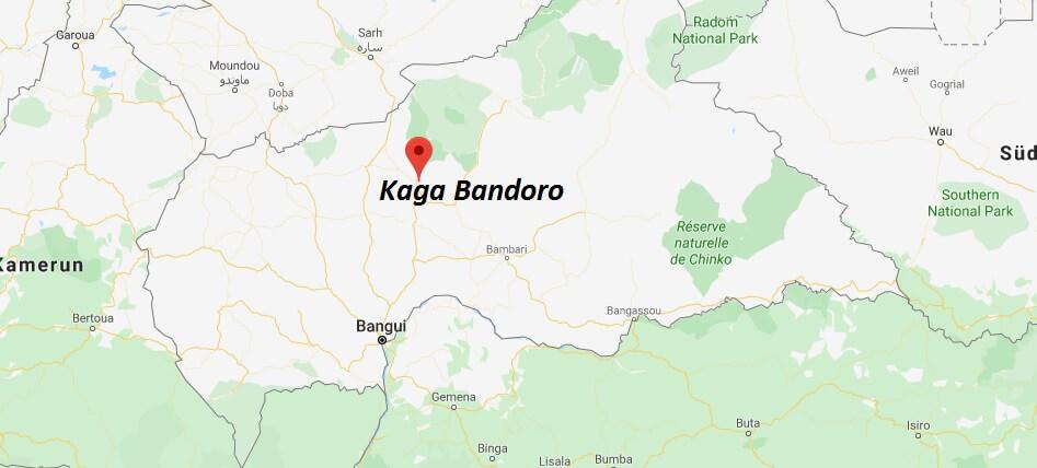 Wo liegt Kaga Bandoro? Wo ist Kaga Bandoro? in welchem land liegt Kaga Bandoro