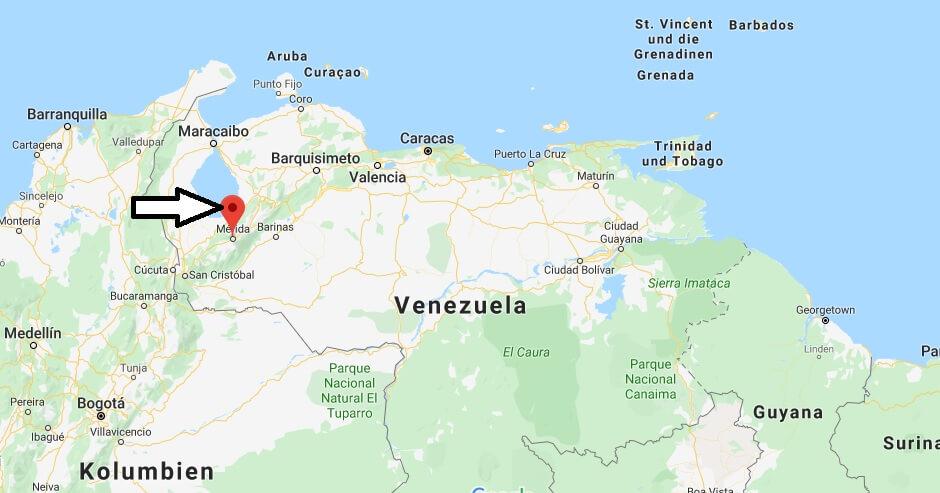 Wo liegt Mérida? Wo ist Mérida? in welchem land liegt Mérida