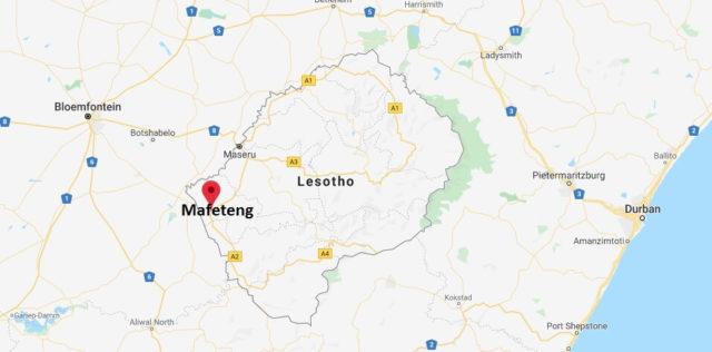 Wo liegt Mafeteng? Wo ist Mafeteng? in welchem land liegt Mafeteng