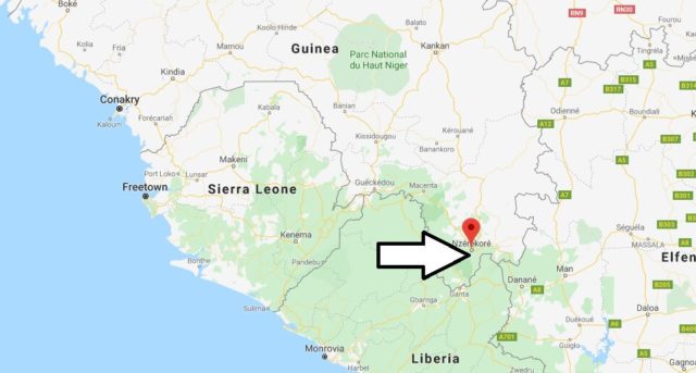 Wo liegt Nzérékoré? Wo ist Nzérékoré? in welchem land liegt Nzérékoré