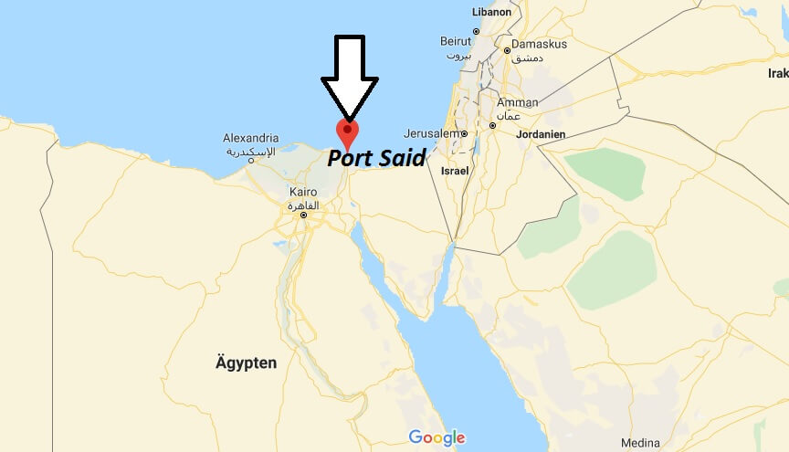 Wo liegt Port Said? Wo ist Port Said? in welchem land liegt Port Said