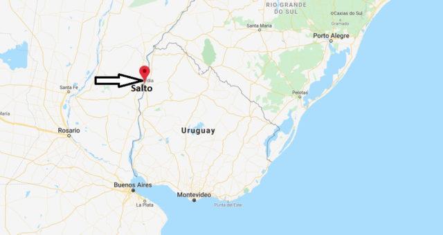 Wo liegt Salto (Uruguay)? Wo ist Salto? in welchem land liegt Salto