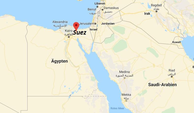 Wo liegt Suez? Wo ist Suez? in welchem land liegt Suez