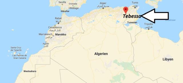 Wo liegt Tebessa? Wo ist Tebessa? in welchem land liegt Tebessa