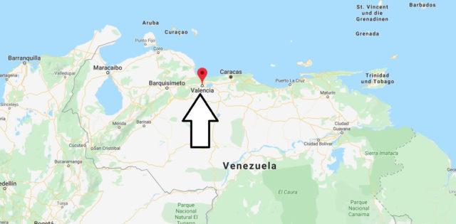 Wo liegt Valencia (Venezuela)? Wo ist Valencia? in welchem land liegt Valencia