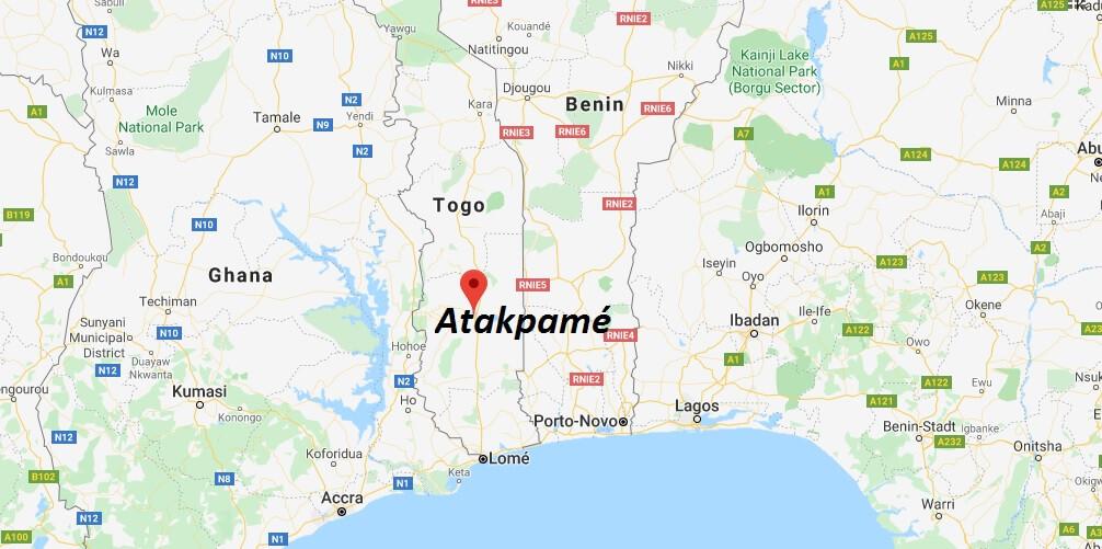 Wo liegt Atakpamé? Wo ist Atakpamé? in welchem land liegt Atakpamé