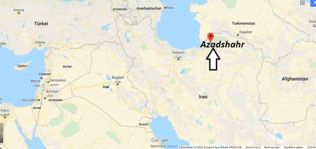 Wo liegt Azadshahr? Wo ist Azadshahr? in welchem land liegt Azadshahr