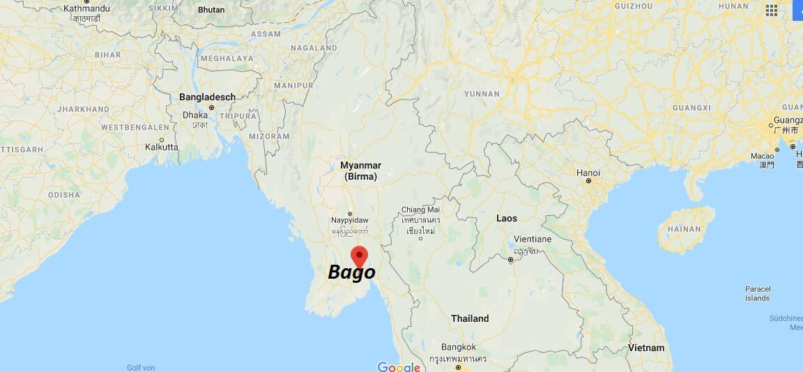 Wo liegt Bago? Wo ist Bago? in welchem land liegt Bago