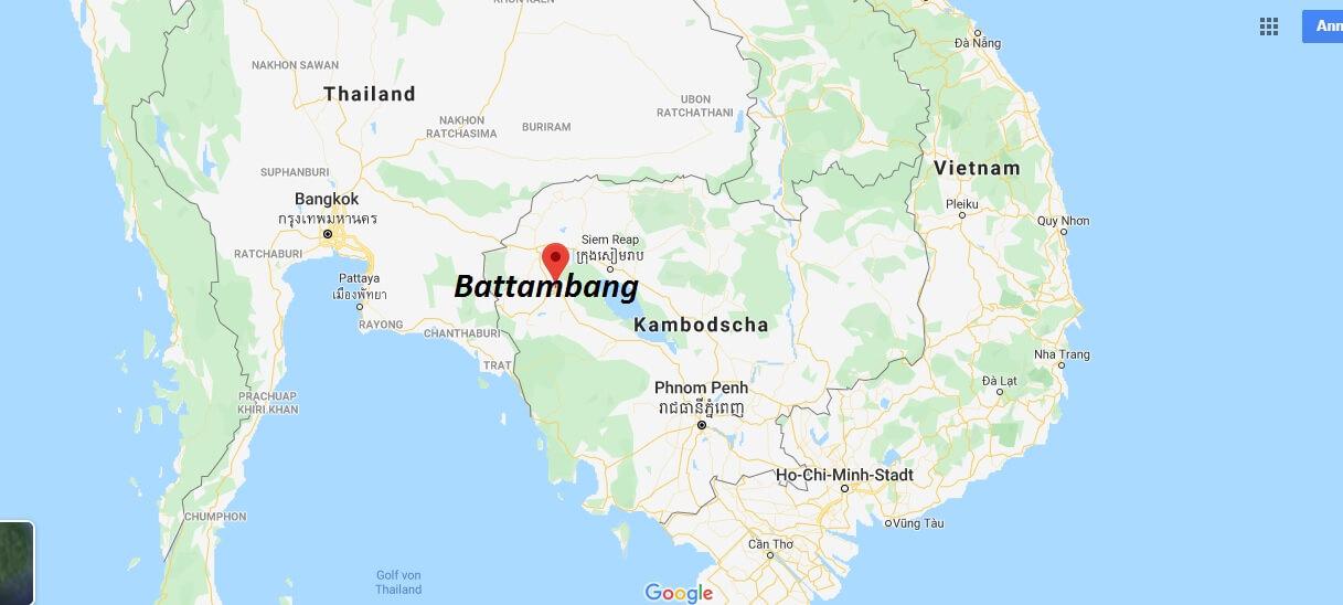 Wo liegt Battambang? Wo ist Battambang? in welchem land liegt Battambang