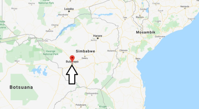 Wo liegt Bulawayo? Wo ist Bulawayo? in welchem land liegt Bulawayo