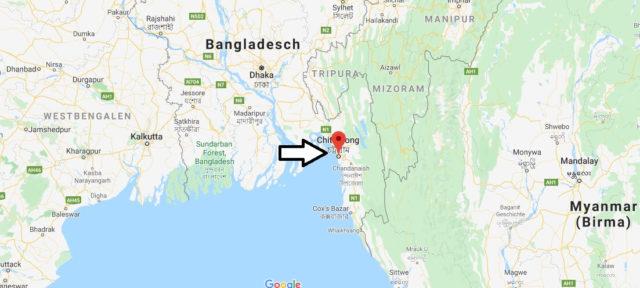 Wo liegt Chittagong? Wo ist Chittagong? in welchem land liegt Chittagong