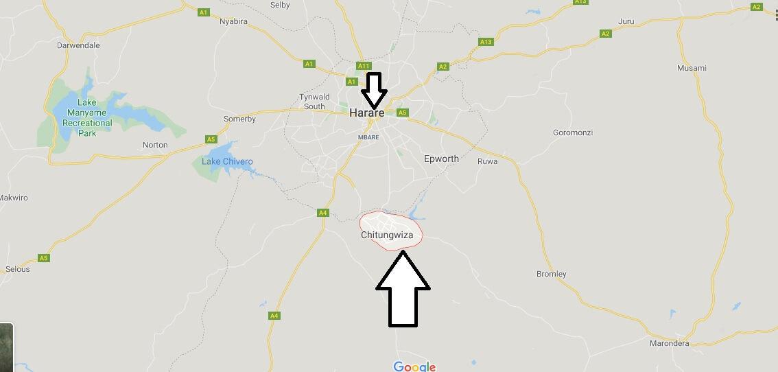 Wo liegt Chitungwiza? Wo ist Chitungwiza? in welchem land liegt Chitungwiza