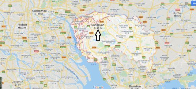 Wo liegt Dongguan? Wo ist Dongguan? in welchem land liegt Dongguan