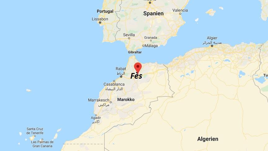 Wo liegt Fès? Wo ist Fès? in welchem land liegt Fès