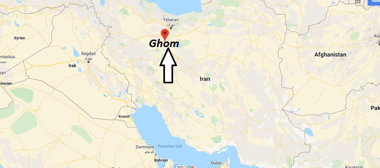 Wo liegt Ghom? Wo ist Ghom? in welchem land liegt Ghom
