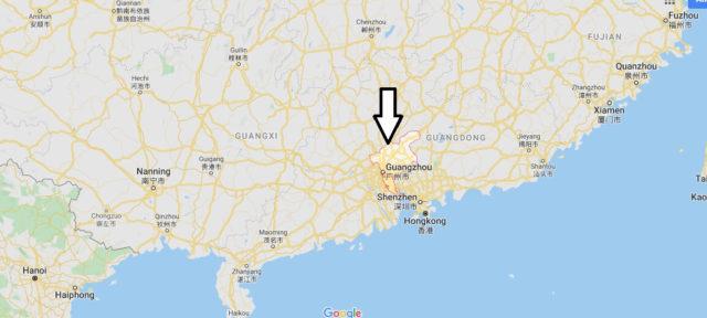 Wo liegt Guangzhou? Wo ist Guangzhou? in welchem land liegt Guangzhou