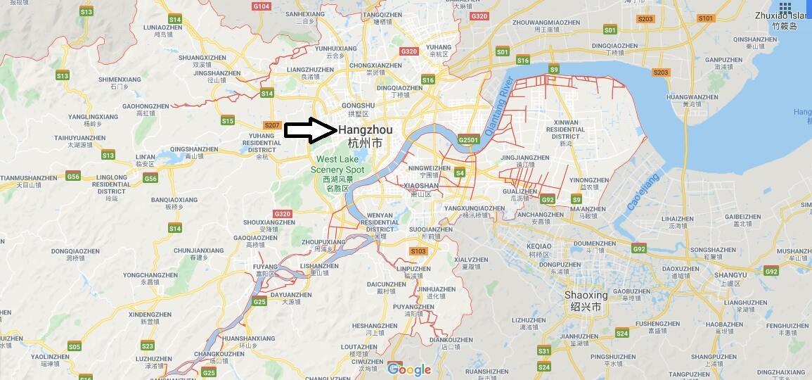 Wo liegt Hangzhou? Wo ist Hangzhou? in welchem land liegt Hangzhou