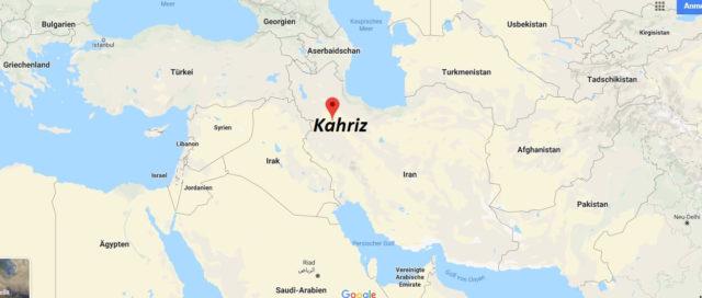 Wo liegt Kahriz? Wo ist Kahriz? in welchem land liegt Kahriz