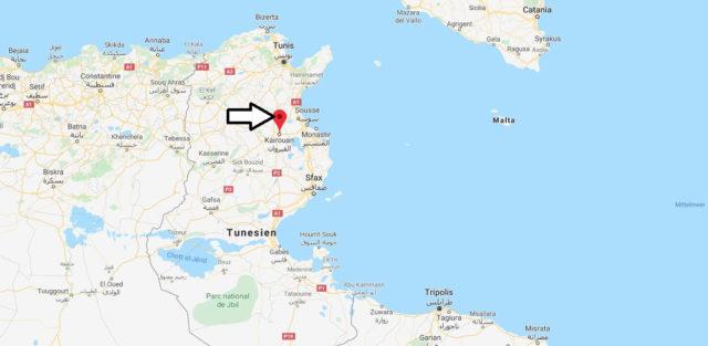 Wo liegt Kairouan? Wo ist Kairouan? in welchem land liegt Kairouan
