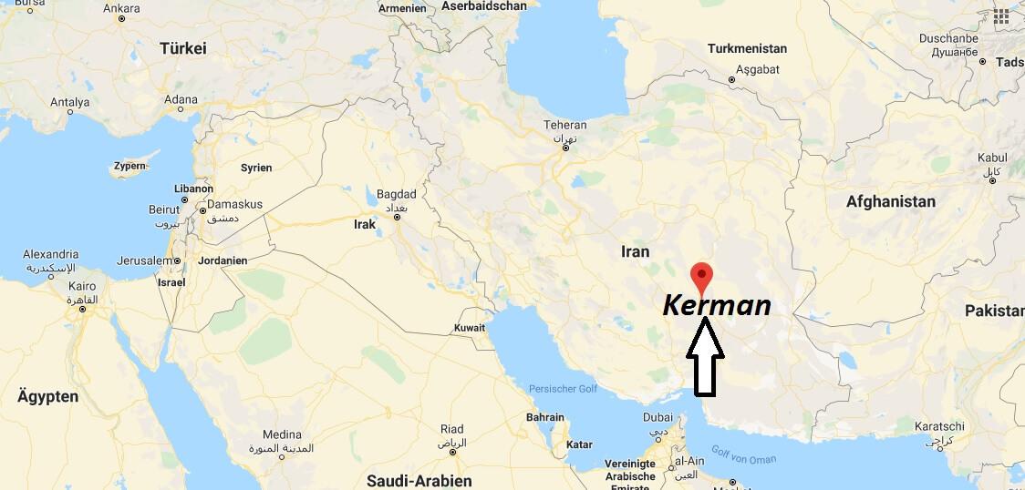 Wo liegt Kerman? Wo ist Kerman? in welchem land liegt Kerman
