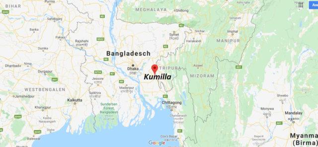 Wo liegt Kumilla? Wo ist Kumilla? in welchem land liegt Kumilla