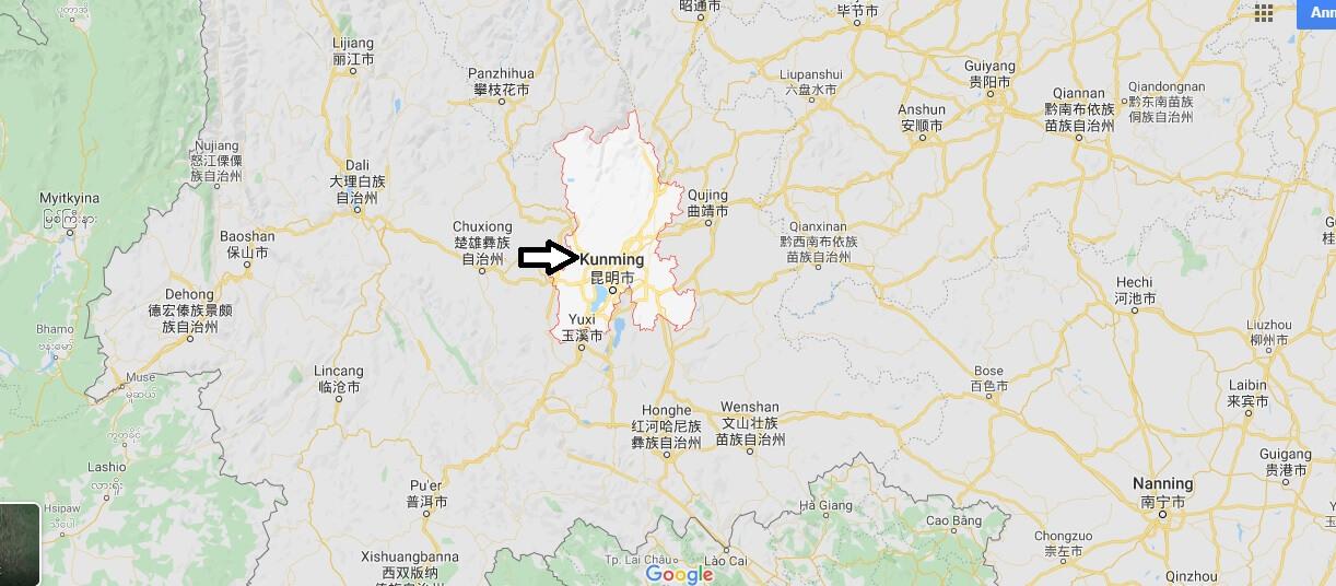Wo liegt Kunming? Wo ist Kunming? in welchem land liegt Kunming