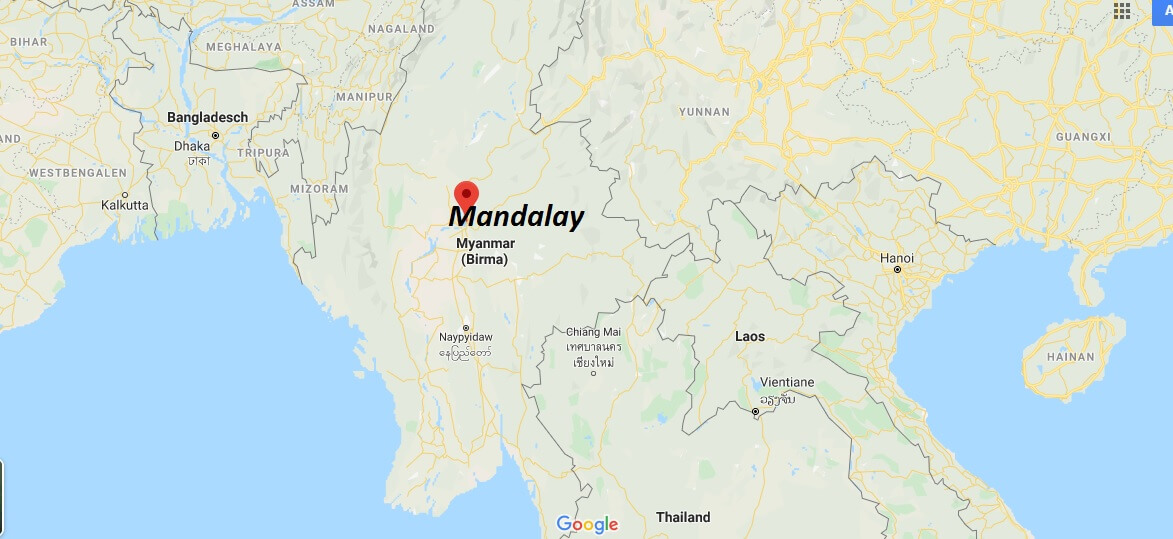 Wo liegt Mandalay? Wo ist Mandalay? in welchem land liegt Mandalay