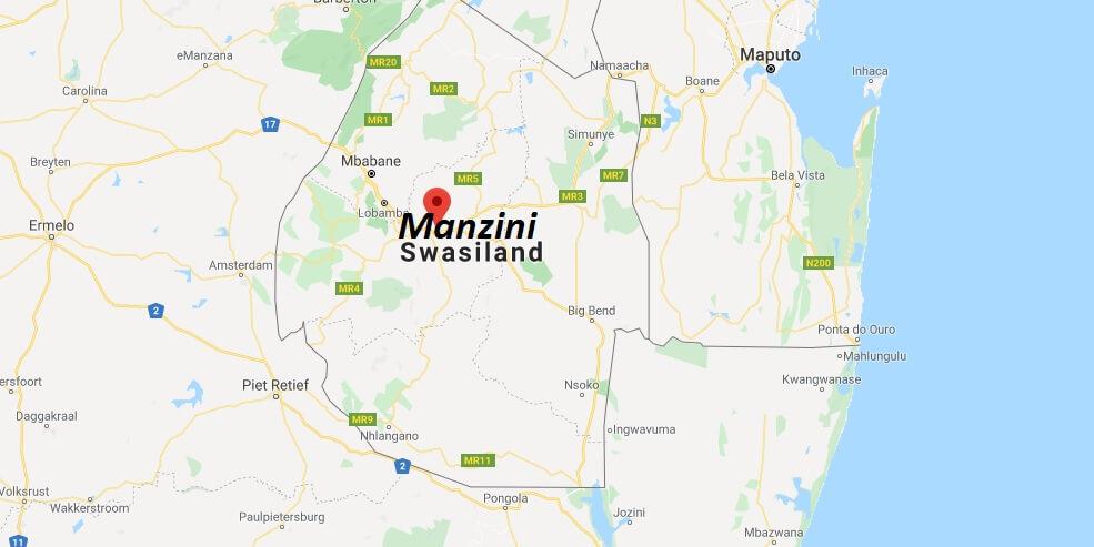 Wo liegt Manzini? Wo ist Manzini? in welchem land liegt Manzini