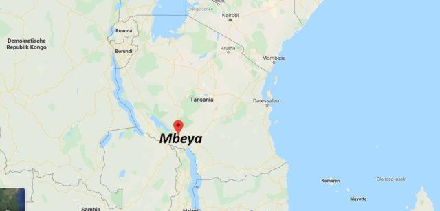 Wo liegt Mbeya? Wo ist Mbeya? in welchem land liegt Mbeya