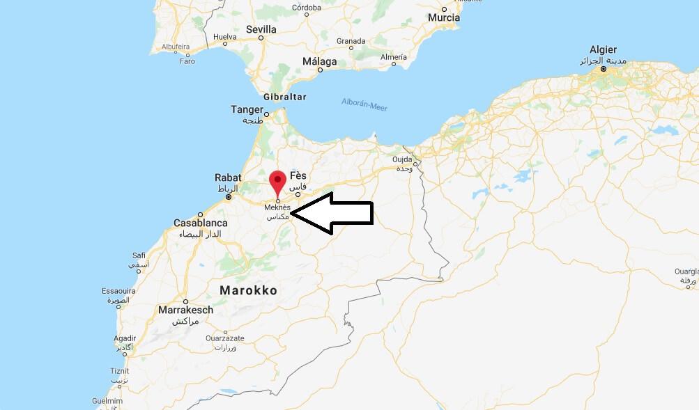 Wo liegt Meknès? Wo ist Meknès? in welchem land liegt Meknès