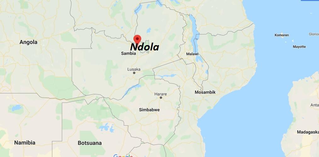 Wo liegt Ndola? Wo ist Ndola? in welchem land liegt Ndola