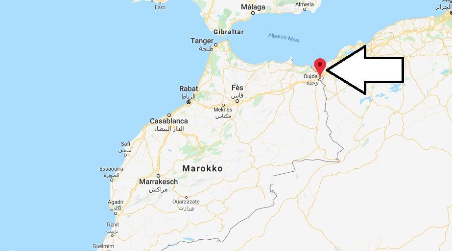 Wo liegt Oujda? Wo ist Oujda? in welchem land liegt Oujda