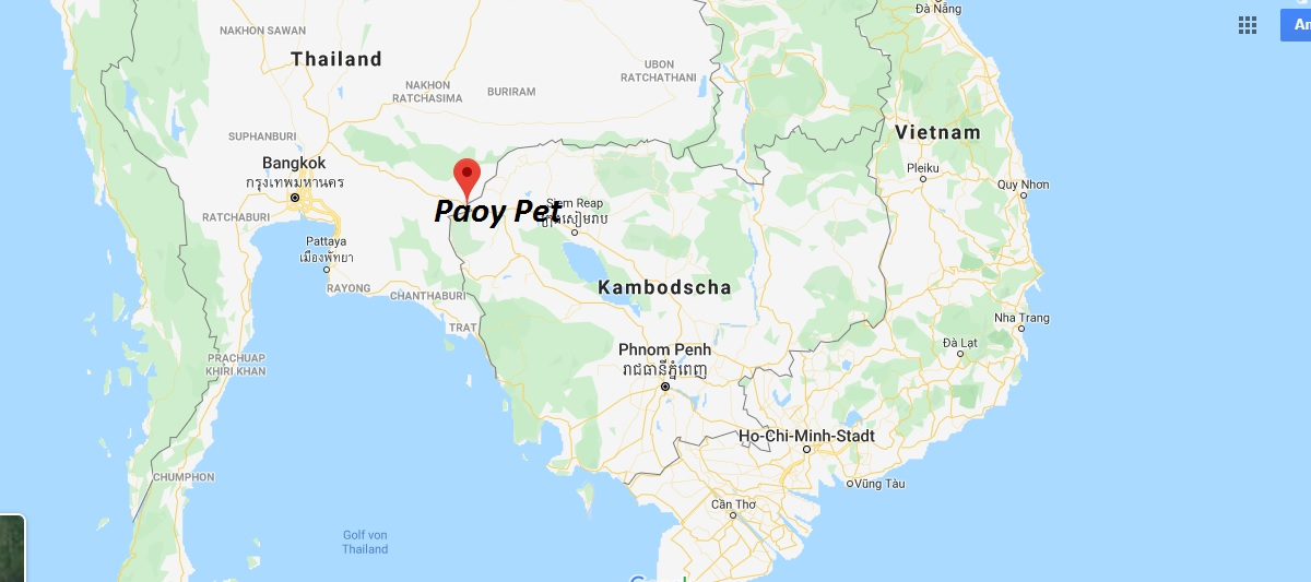 Wo liegt Paoy Pet? Wo ist Paoy Pet? in welchem land liegt Paoy Pet