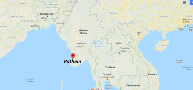 Wo liegt Pathein? Wo ist Pathein? in welchem land liegt Pathein