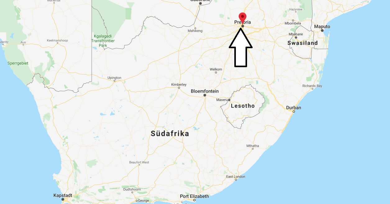 Wo liegt Pretoria? Wo ist Pretoria? in welchem land liegt Pretoria