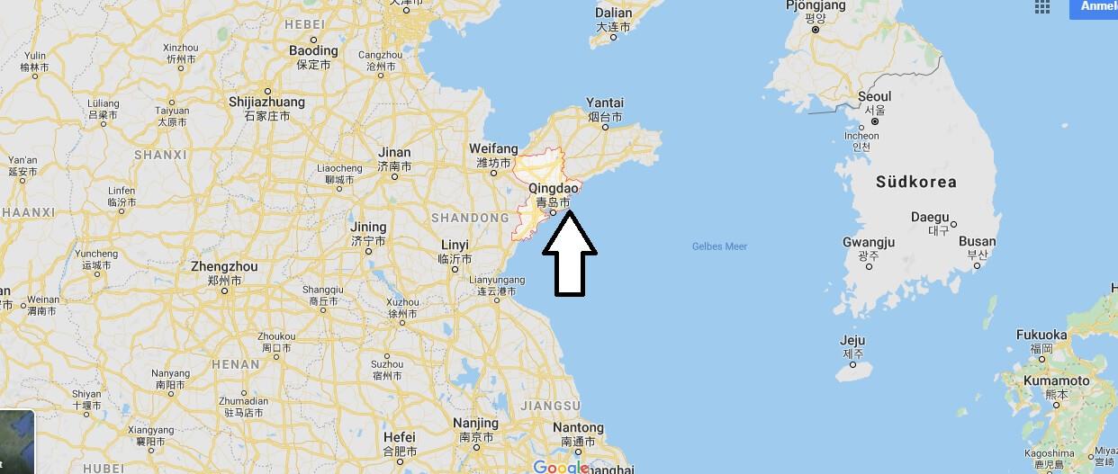 Wo liegt Qingdao? Wo ist Qingdao? in welchem land liegt Qingdao