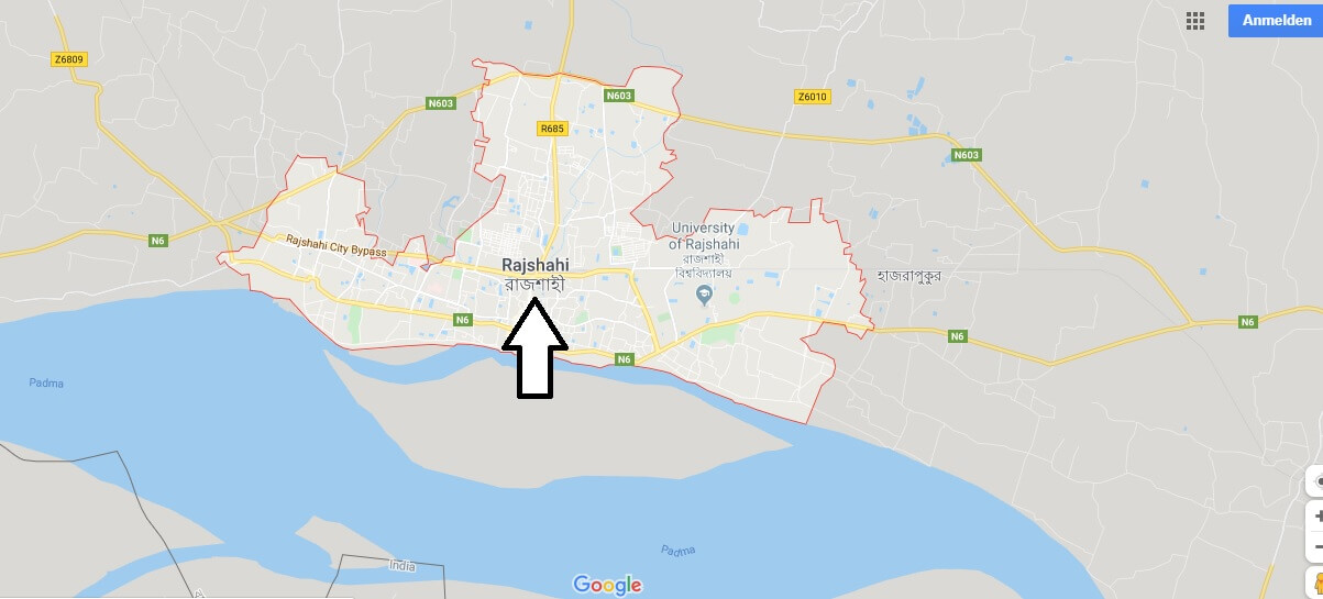 Wo liegt Rajshahi? Wo ist Rajshahi? in welchem land liegt Rajshahi