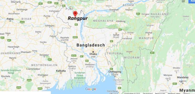 Wo liegt Rangpur? Wo ist Rangpur? in welchem land liegt Rangpur