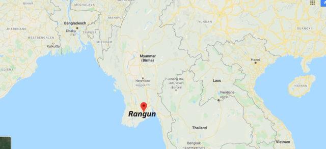 Wo liegt Rangun? Wo ist Rangun? in welchem land liegt Rangun