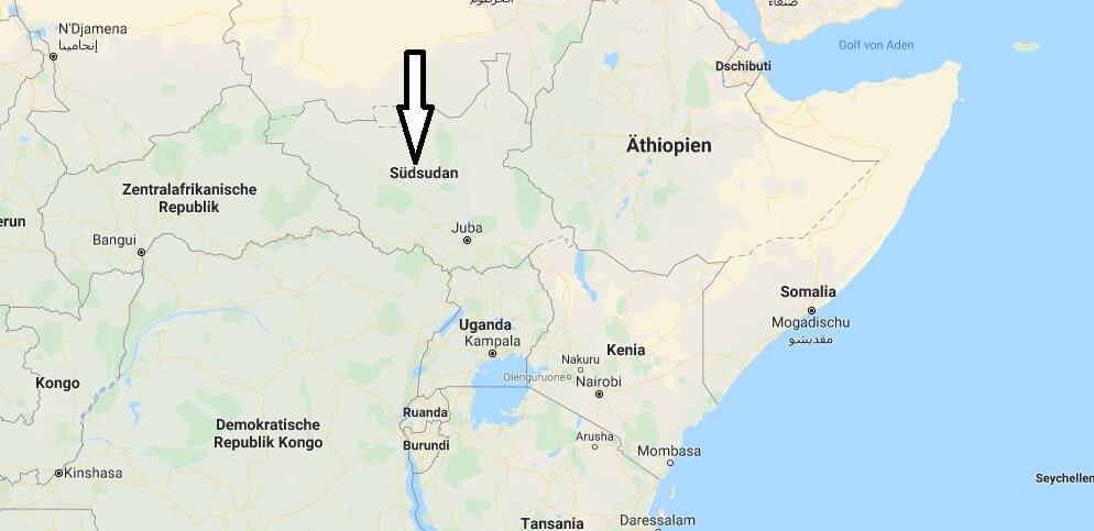 Wo liegt Südsudan? Wo ist Südsudan? in welchem land liegt Südsudan