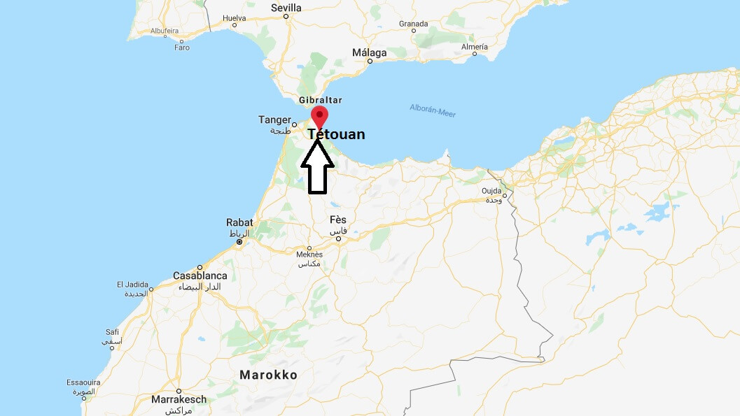 Wo liegt Tétouan? Wo ist Tétouan? in welchem land liegt Tétouan