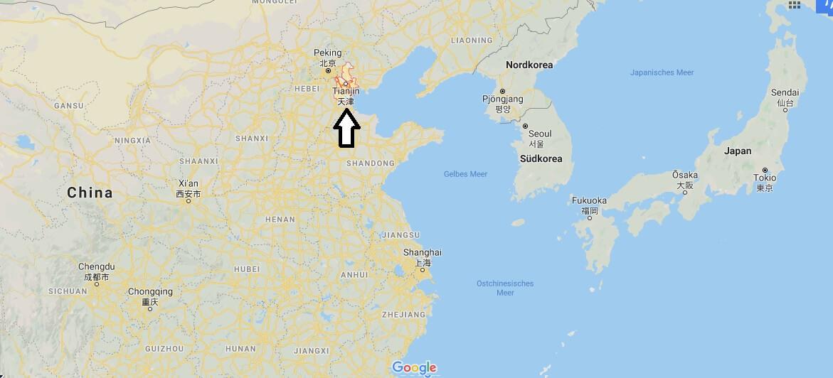 Wo liegt Tianjin? Wo ist Tianjin? in welchem land liegt Tianjin
