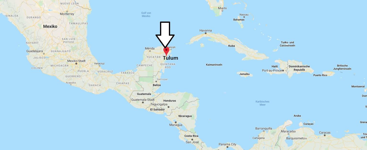 Wo liegt Tulum? Wo ist Tulum? in welchem land liegt Tulum