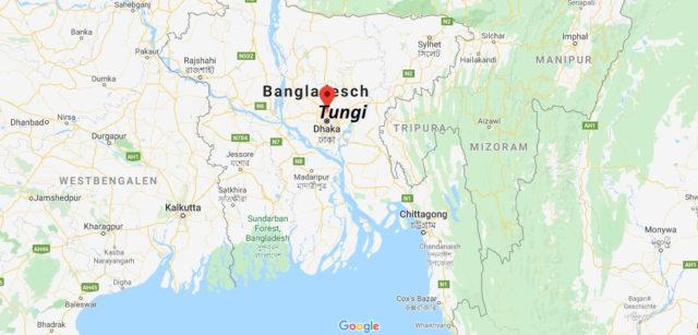 Wo liegt Tungi (Bangladesch)? Wo ist Tungi? in welchem land liegt Tungi