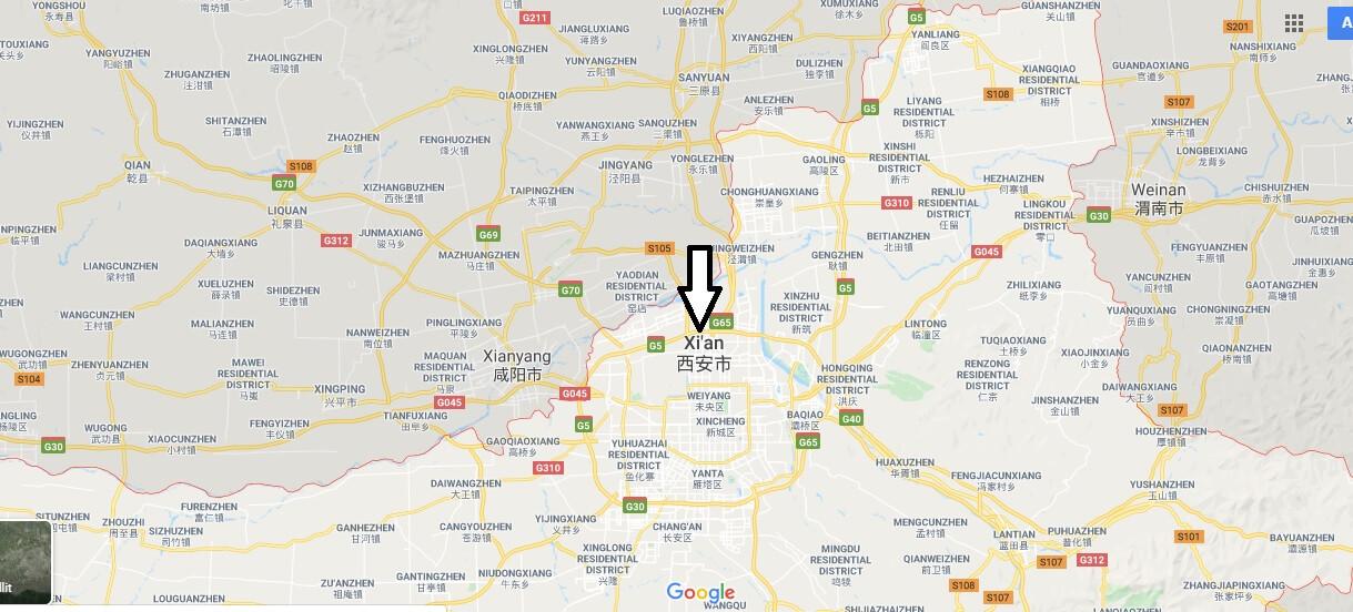 Wo liegt Xi'an? Wo ist Xi'an? in welchem land liegt Xi'an