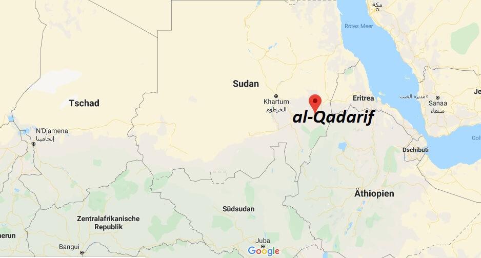 Wo liegt al-Qadarif? Wo ist al-Qadarif? in welchem land liegt al-Qadarif