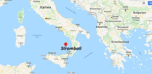 Wo liegt der Stromboli? Wo ist der Stromboli