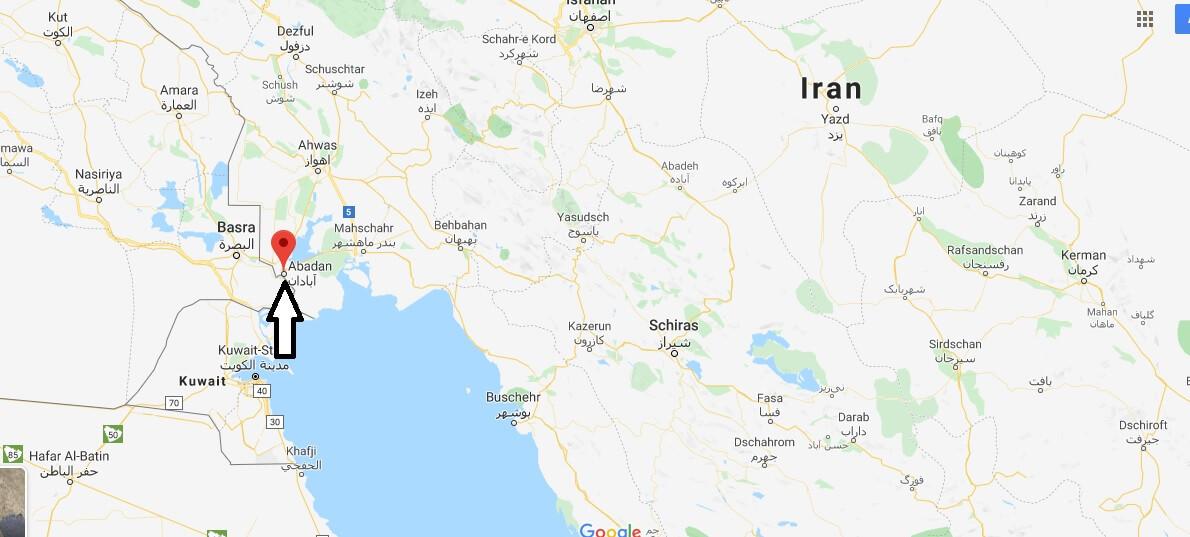 Wo liegt Abadan? Wo ist Abadan? in welchem land liegt Abadan